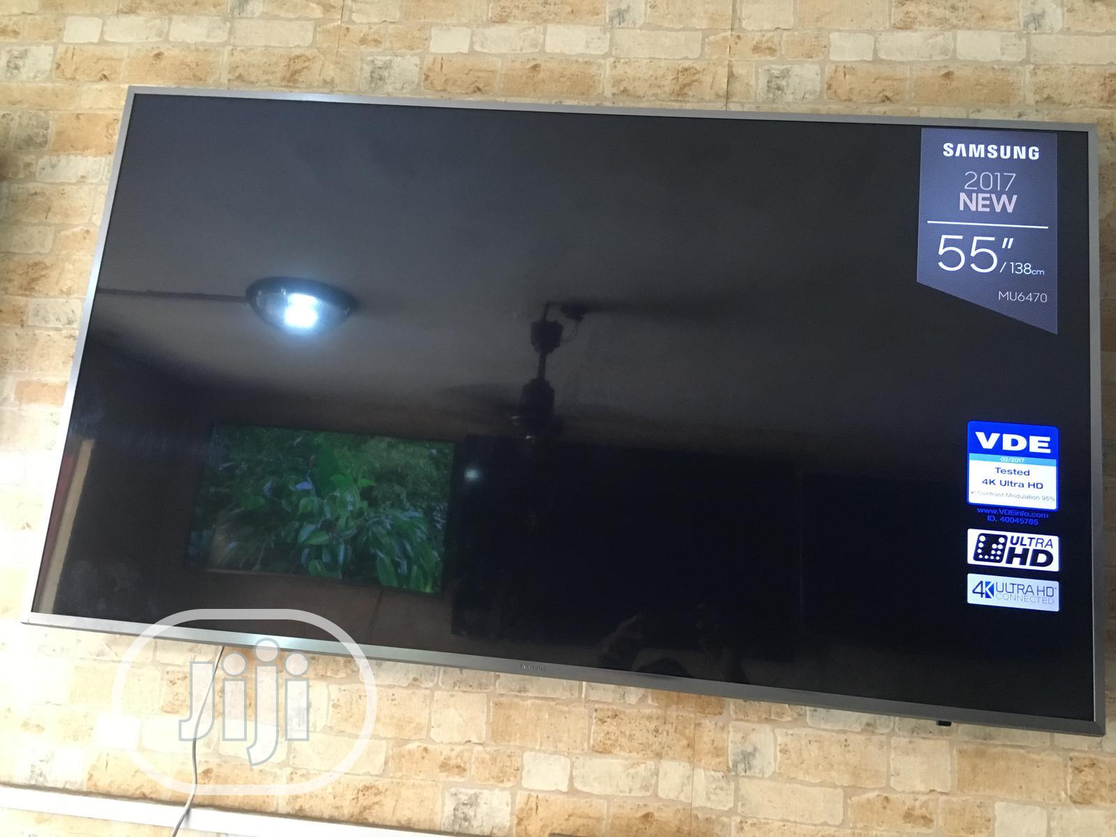 "Samsung 55"" Ultra Slim 4k Uhd Smart Tv | TV & DVD Equipment for sale in Ojo, Lagos State, Nigeria"