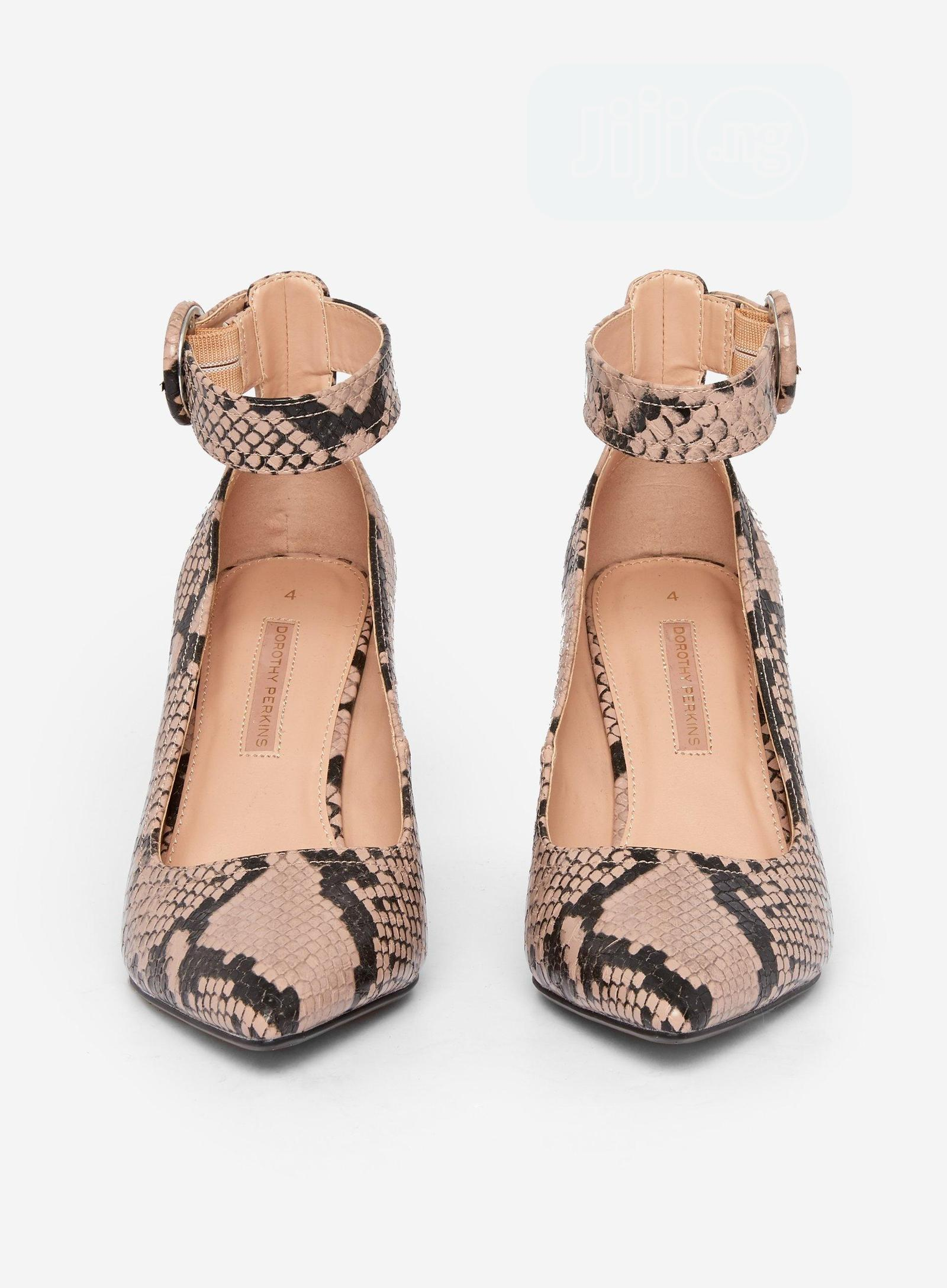 Archive: Dorothy Perkins Nude 'Divine' Snake Print Court Shoes