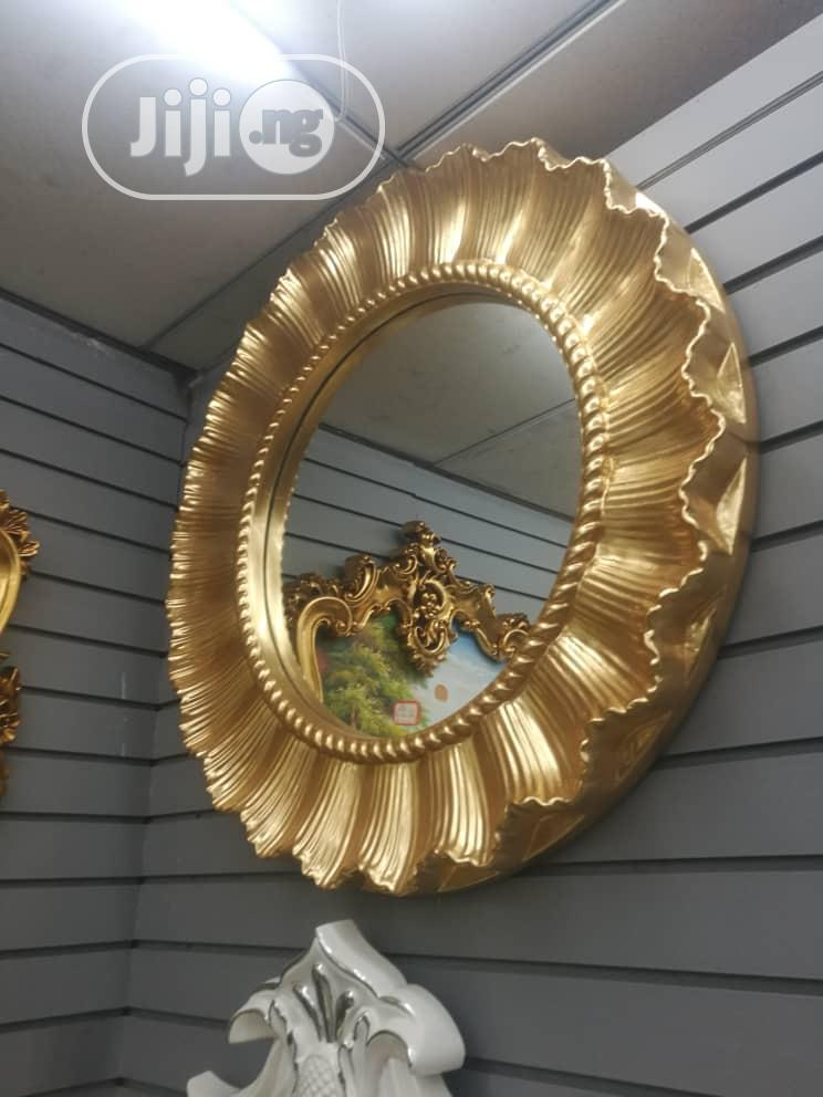 Gold Design Wall Mirror