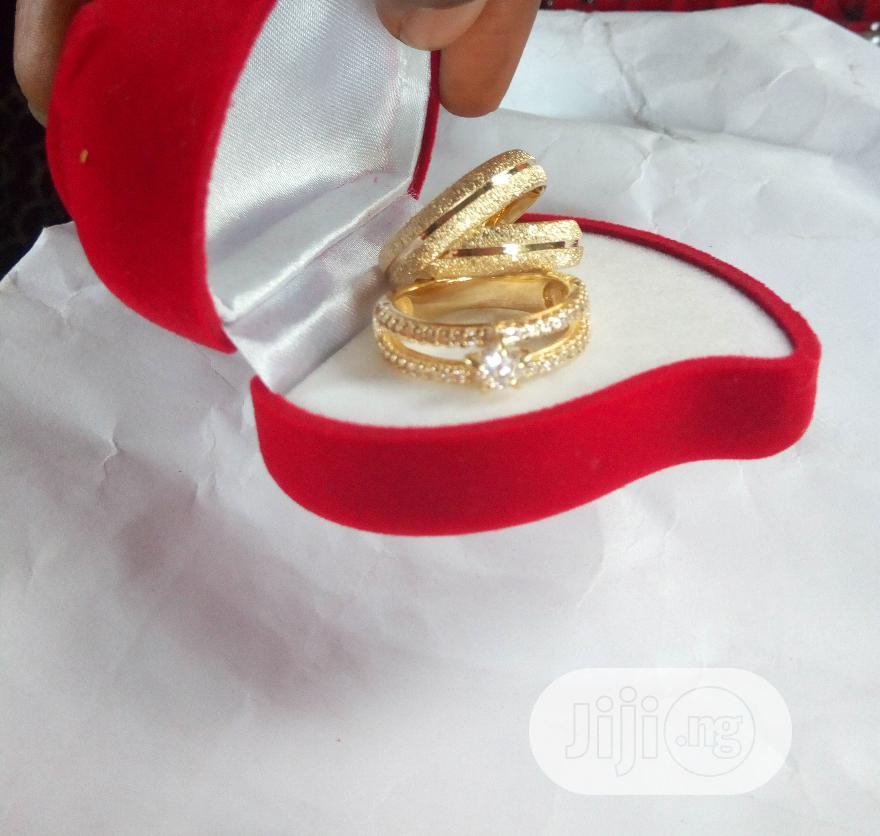 Real Romanian Gold 3 Set Of Wedding Ring - 0022