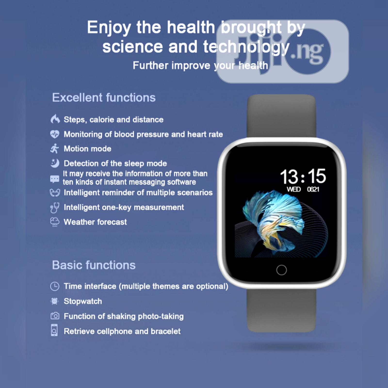 T80 Smart Watch With Extra Strap | Smart Watches & Trackers for sale in Ojodu, Lagos State, Nigeria