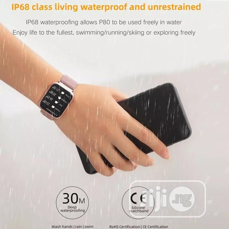 P80 Smart Watch Heart Rate Blood Pressure Monitor   Tools & Accessories for sale in Ikeja, Lagos State, Nigeria