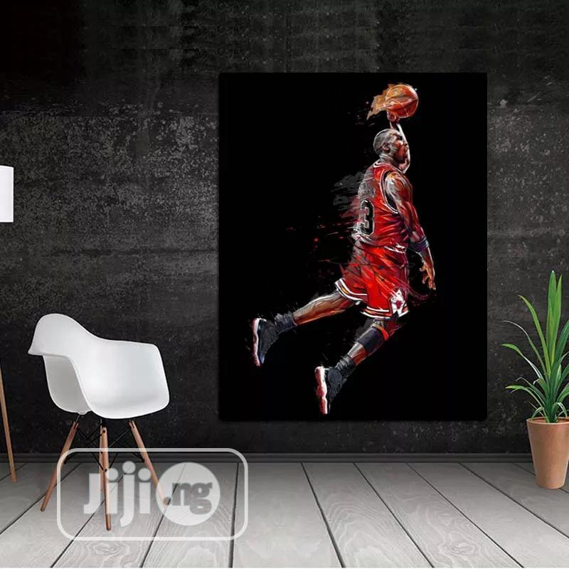 Basket Baller Framed Artwork Printed On Canvas.