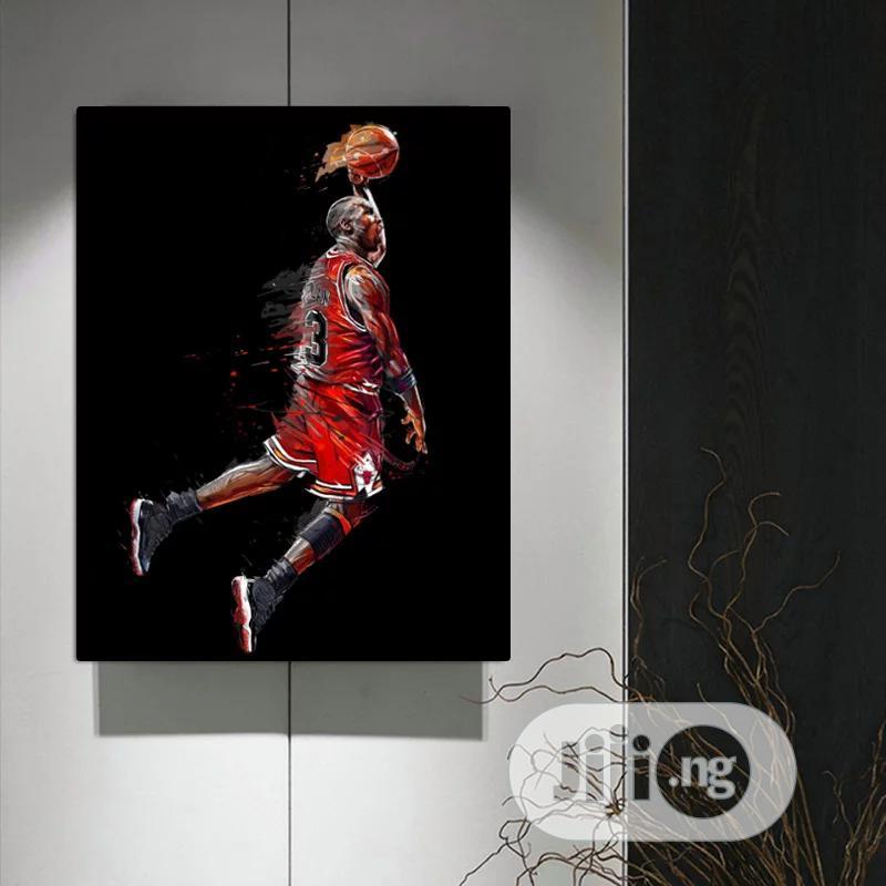 Basket Baller Framed Artwork Printed On Canvas. | Arts & Crafts for sale in Ajah, Lagos State, Nigeria