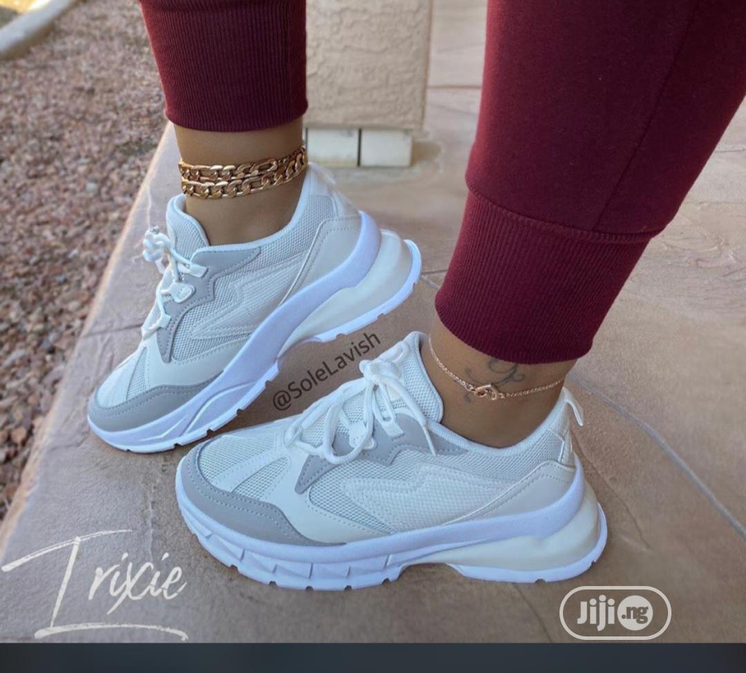 Latest Ladies White Sneakers in Mushin