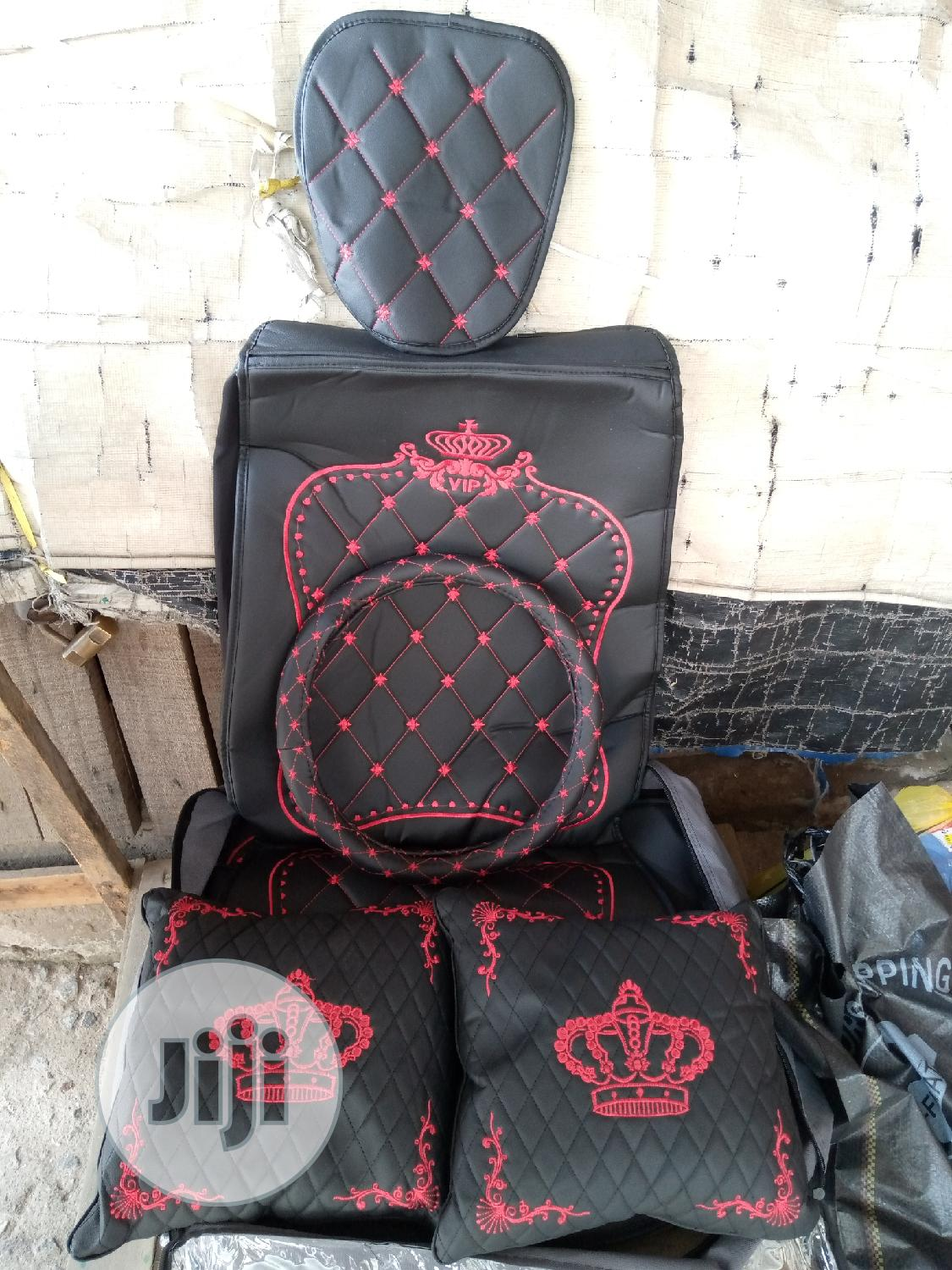 Red Crown Seat Cover