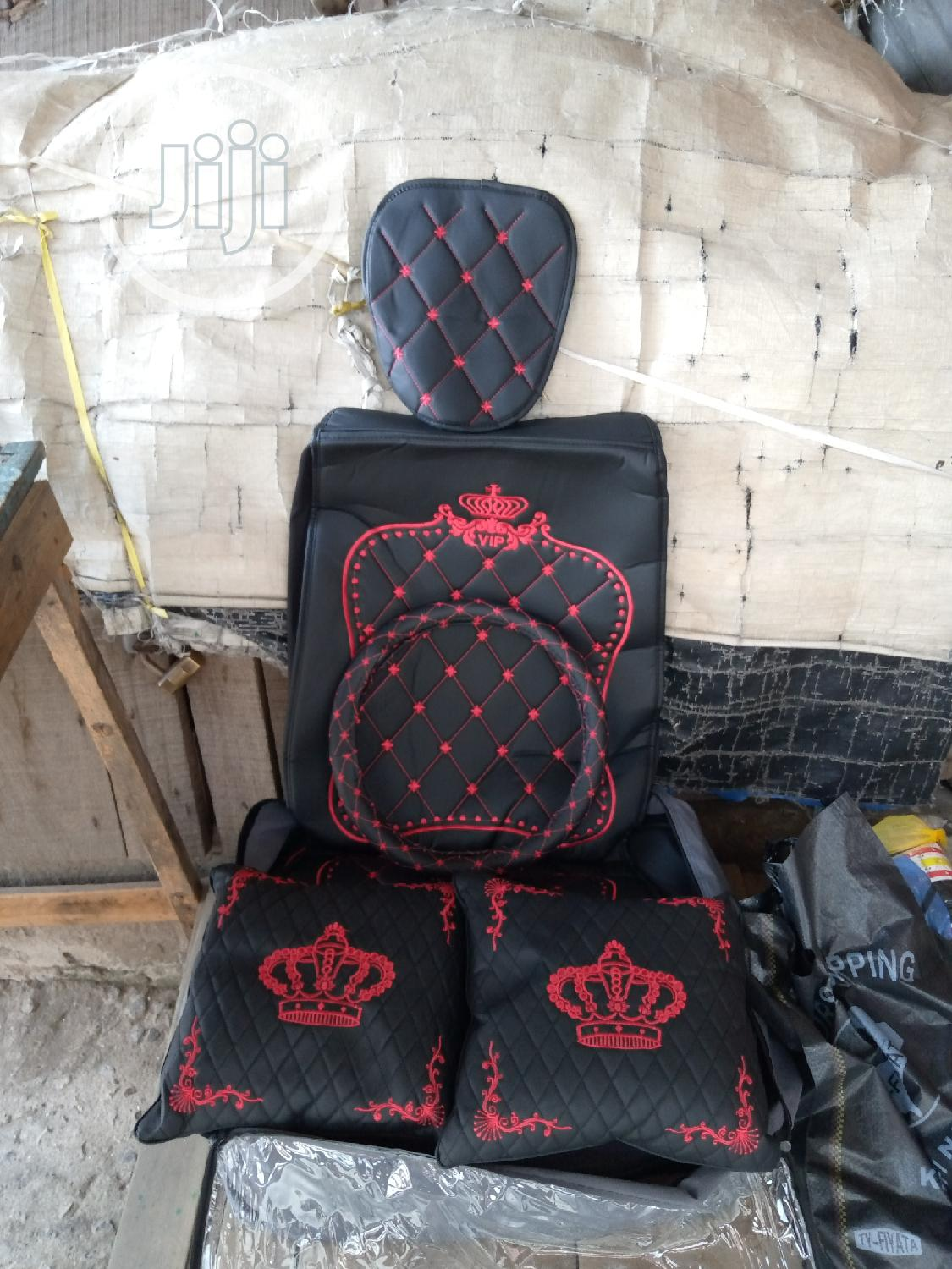 Red Crown Seat Cover | Vehicle Parts & Accessories for sale in Ojo, Lagos State, Nigeria