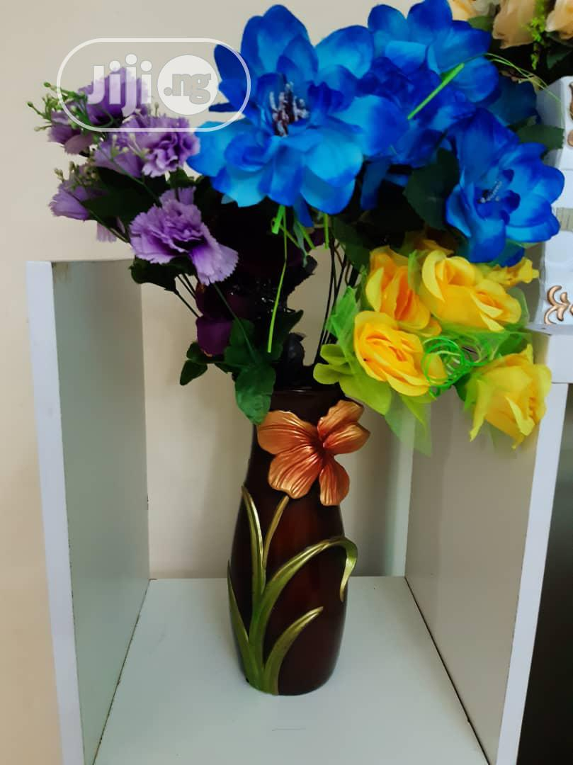 Ceramic Vase + Flowers