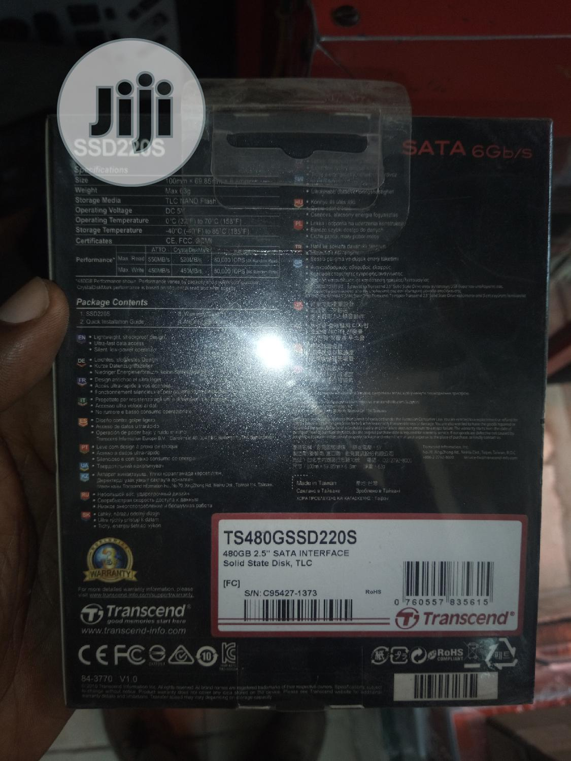 New Transcend 480gb SSD.   Computer Hardware for sale in Ikeja, Lagos State, Nigeria