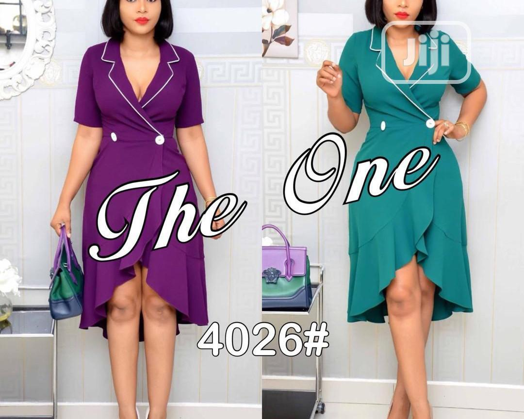 Knee Length Sexy Women's Gown