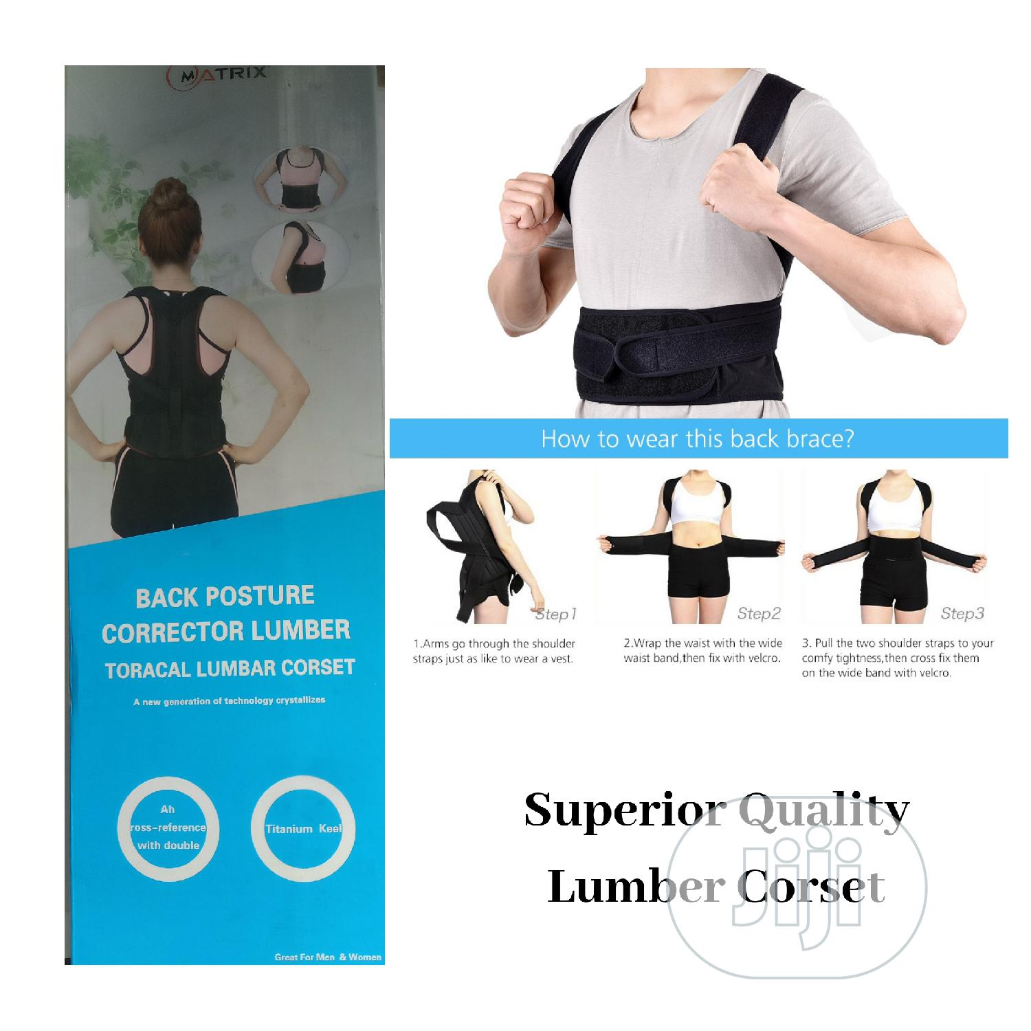 Lumber Corset - Posture Corrector | Clothing Accessories for sale in Surulere, Lagos State, Nigeria
