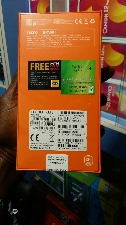 New Tecno Spark 4 32 GB | Mobile Phones for sale in Ikeja, Lagos State, Nigeria