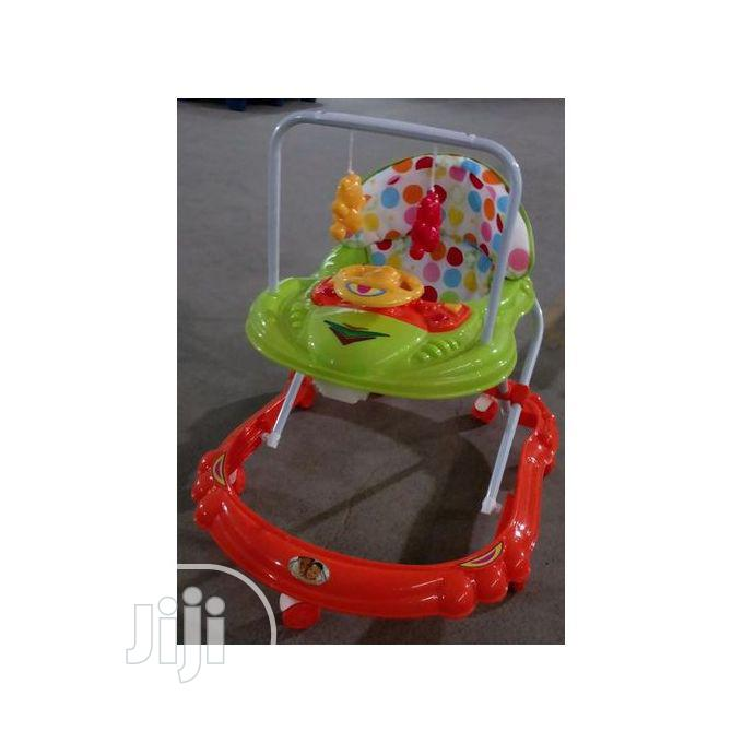 Movable Foldable Baby Walker With Music Hanging Toys