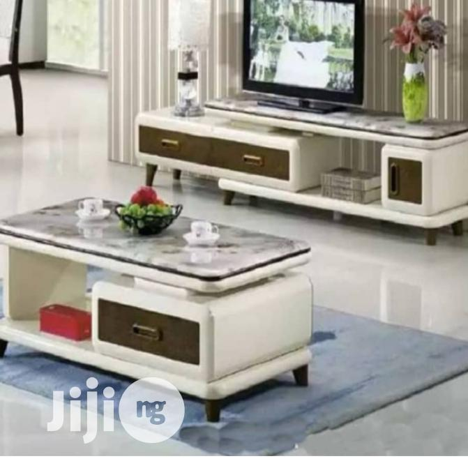 Coffee Brown Tv Stand And Table