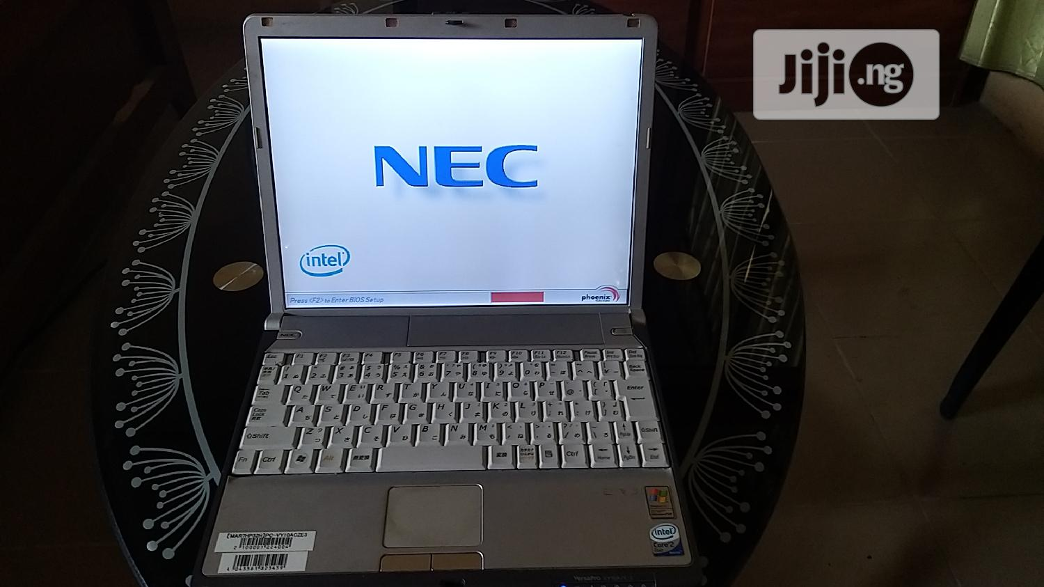 Laptop NEC N22A 1GB Intel Core 2 Duo HDD 40GB | Laptops & Computers for sale in Ajah, Lagos State, Nigeria