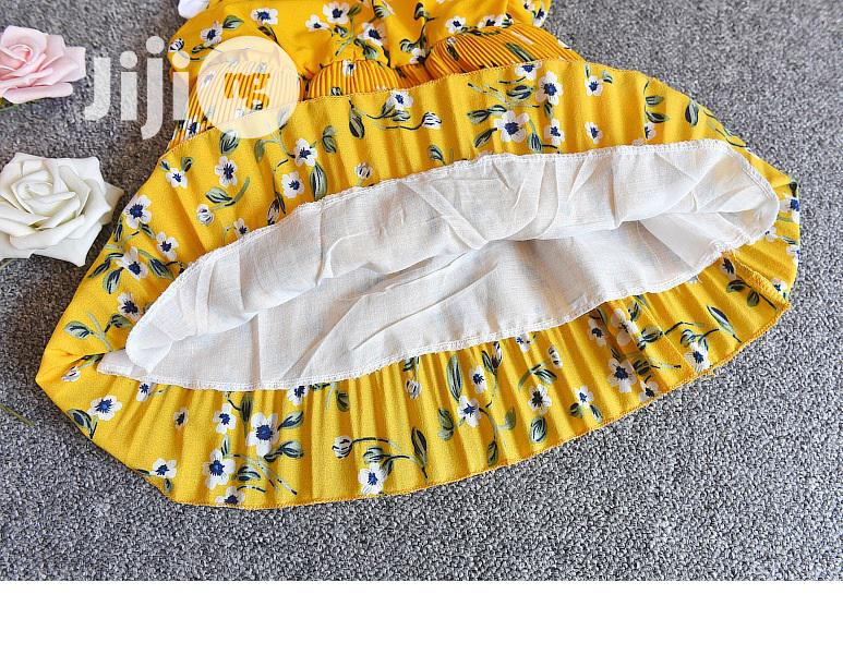 Yellow Floral Dress With Attached Tee - 3yrs | Children's Clothing for sale in Surulere, Lagos State, Nigeria