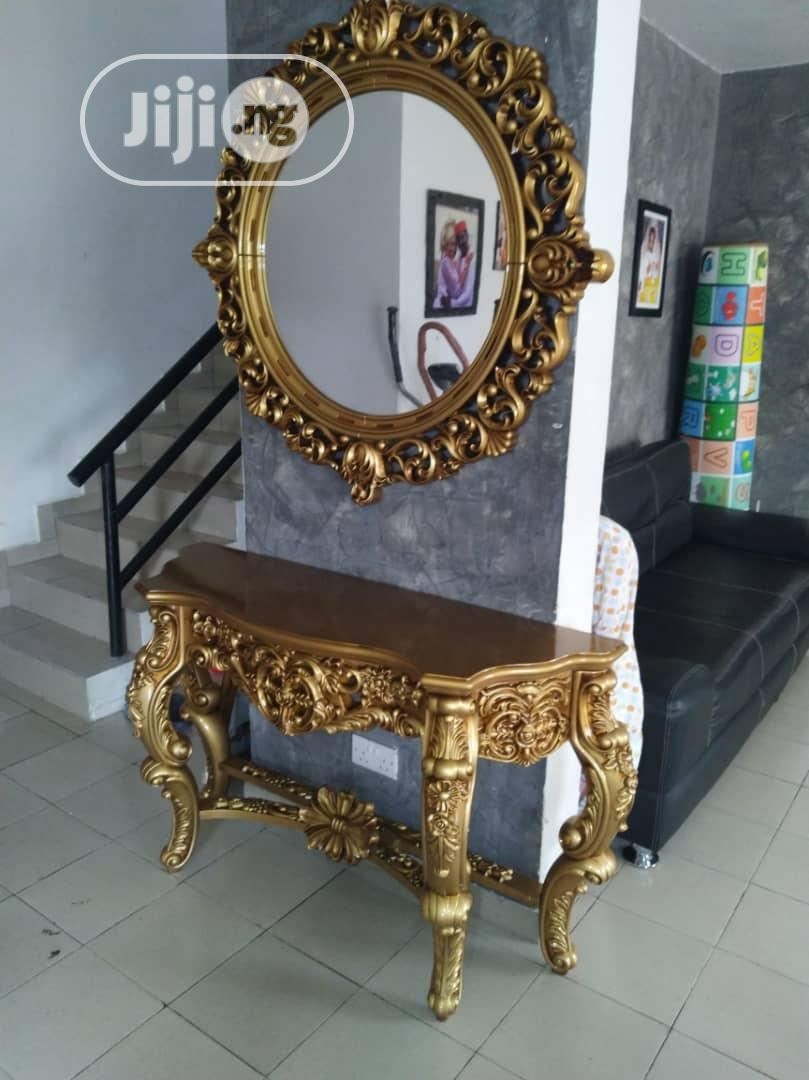 Royal Console Stand&Mirror