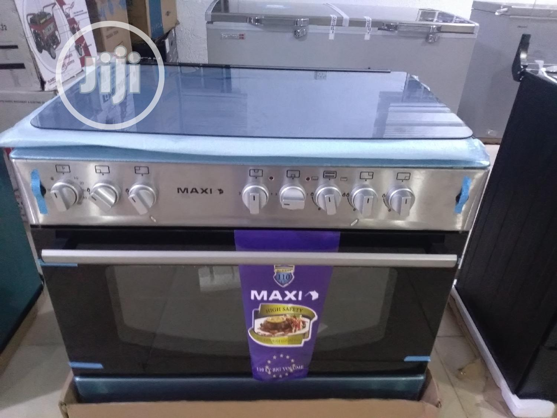 Maxi Gas Cooker (6090) 4+2 Inox