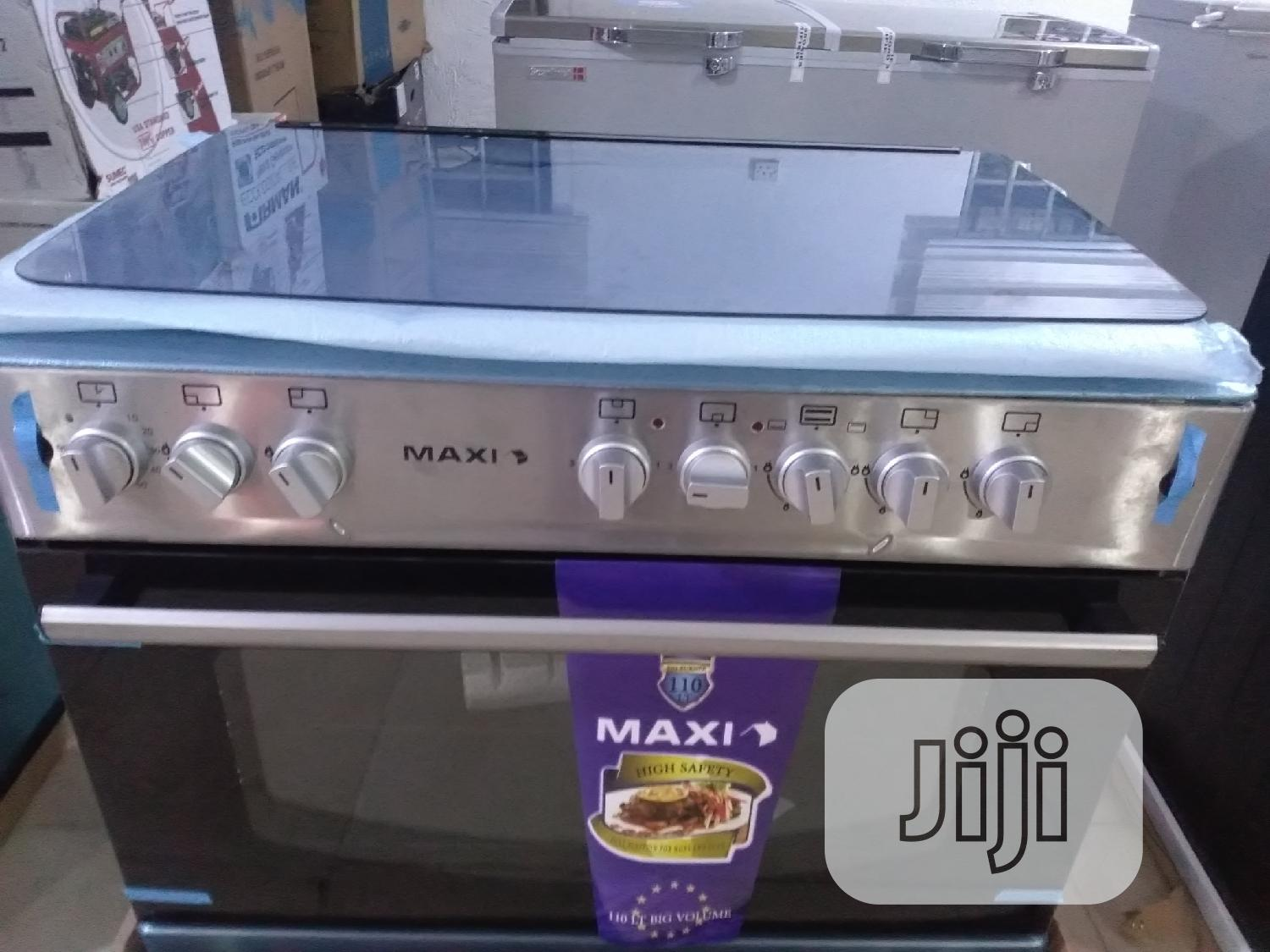 Maxi Gas Cooker (6090) 4+2 Inox | Kitchen Appliances for sale in Wuse, Abuja (FCT) State, Nigeria