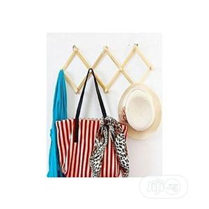 Collapsable Polished Wooden Wall Bag Hanger | Home Accessories for sale in Lagos State, Lagos Island (Eko)
