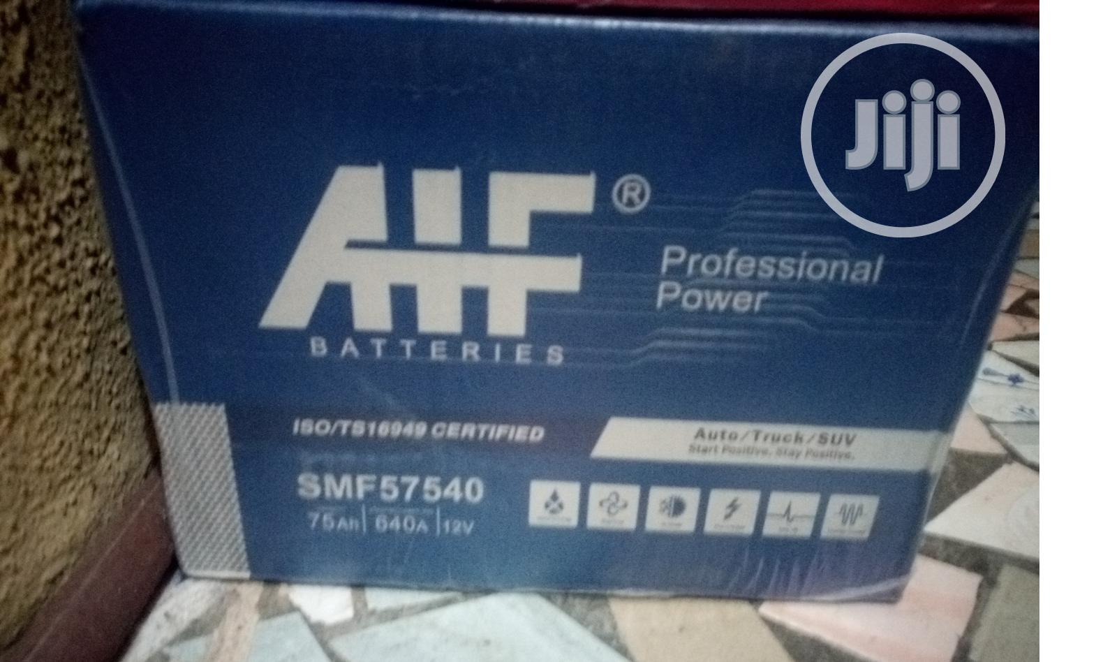 Ahf Good And Quality 75ahms Car Battery For Sale Now