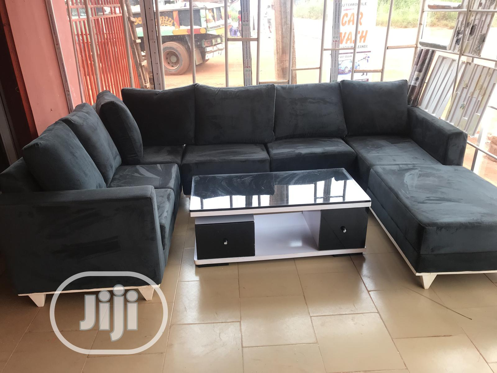 U Shaped Chair And Centre Table