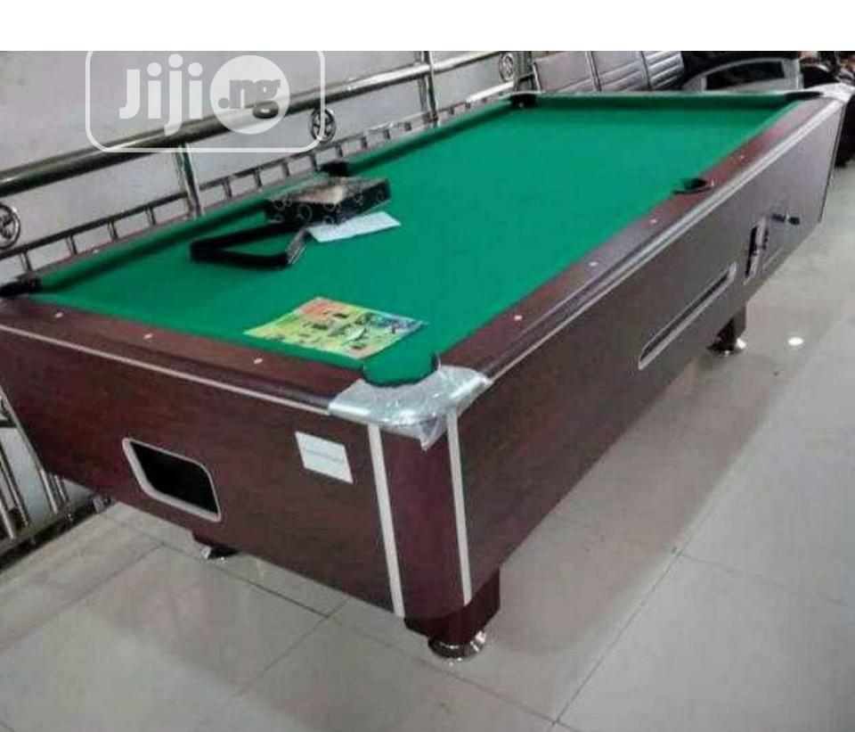 8ft Marble Coin Snooker Table With Accessories