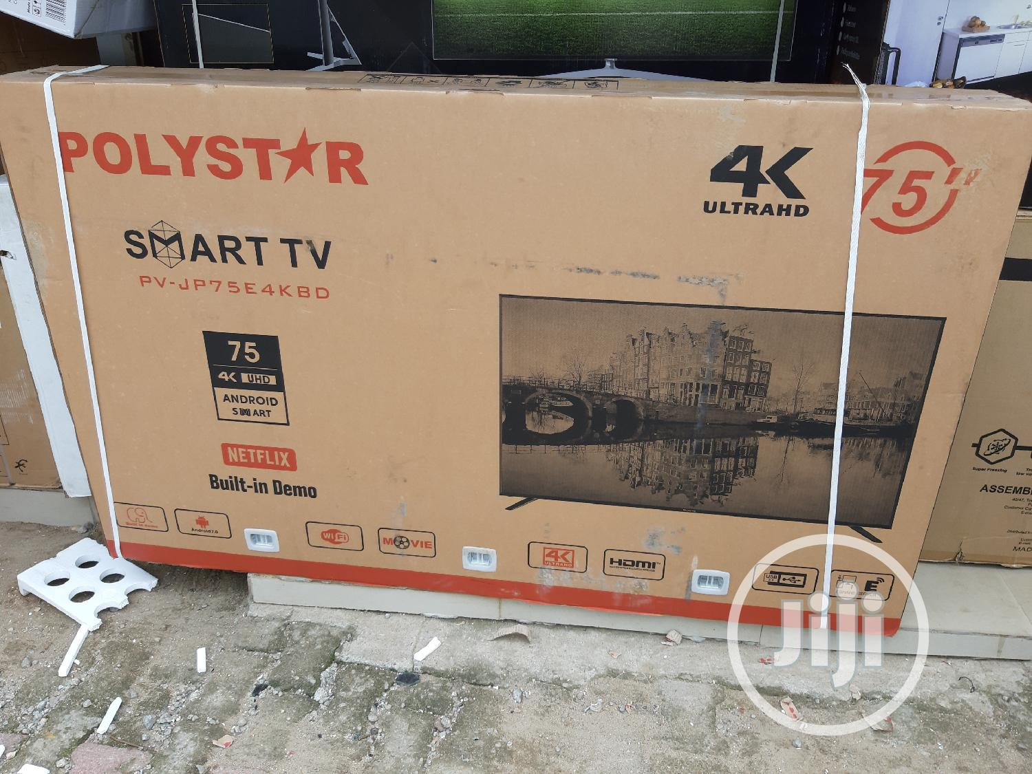 """Polystar 75""""Television Pv-jp75e4kdb 
