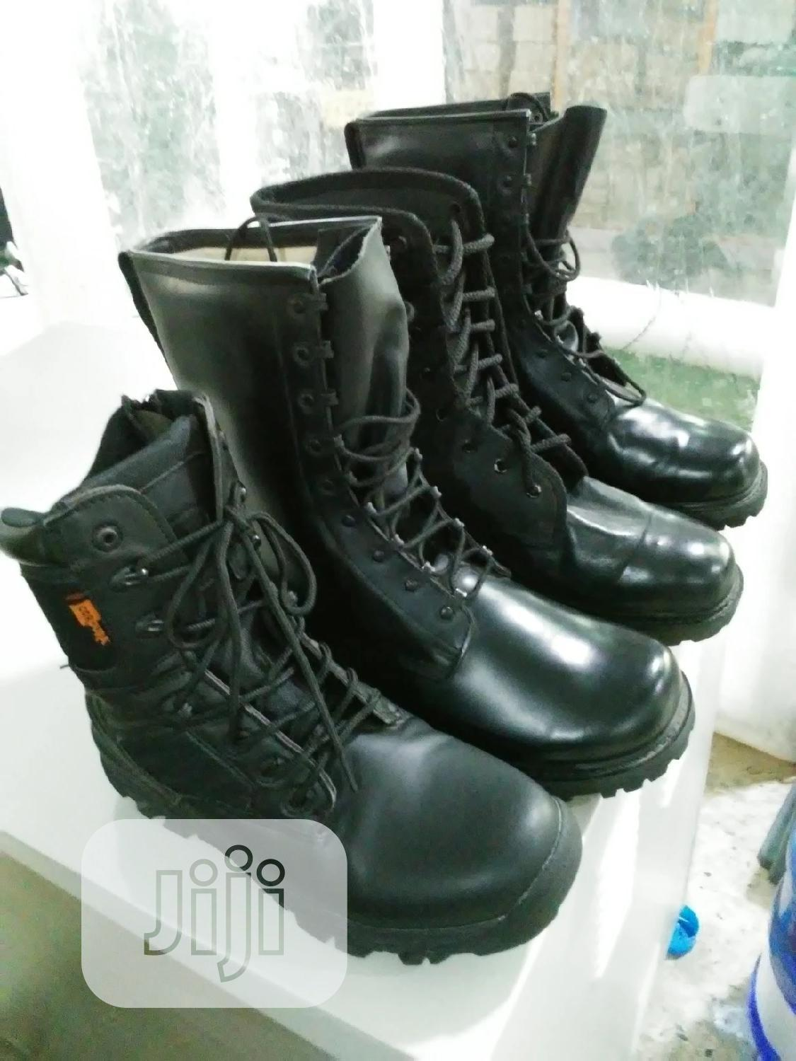 Black Boot For Security