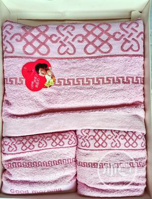 Mother Child Box High Quality Towel-3pcs - Baby Pink | Baby & Child Care for sale in Lagos State, Alimosho