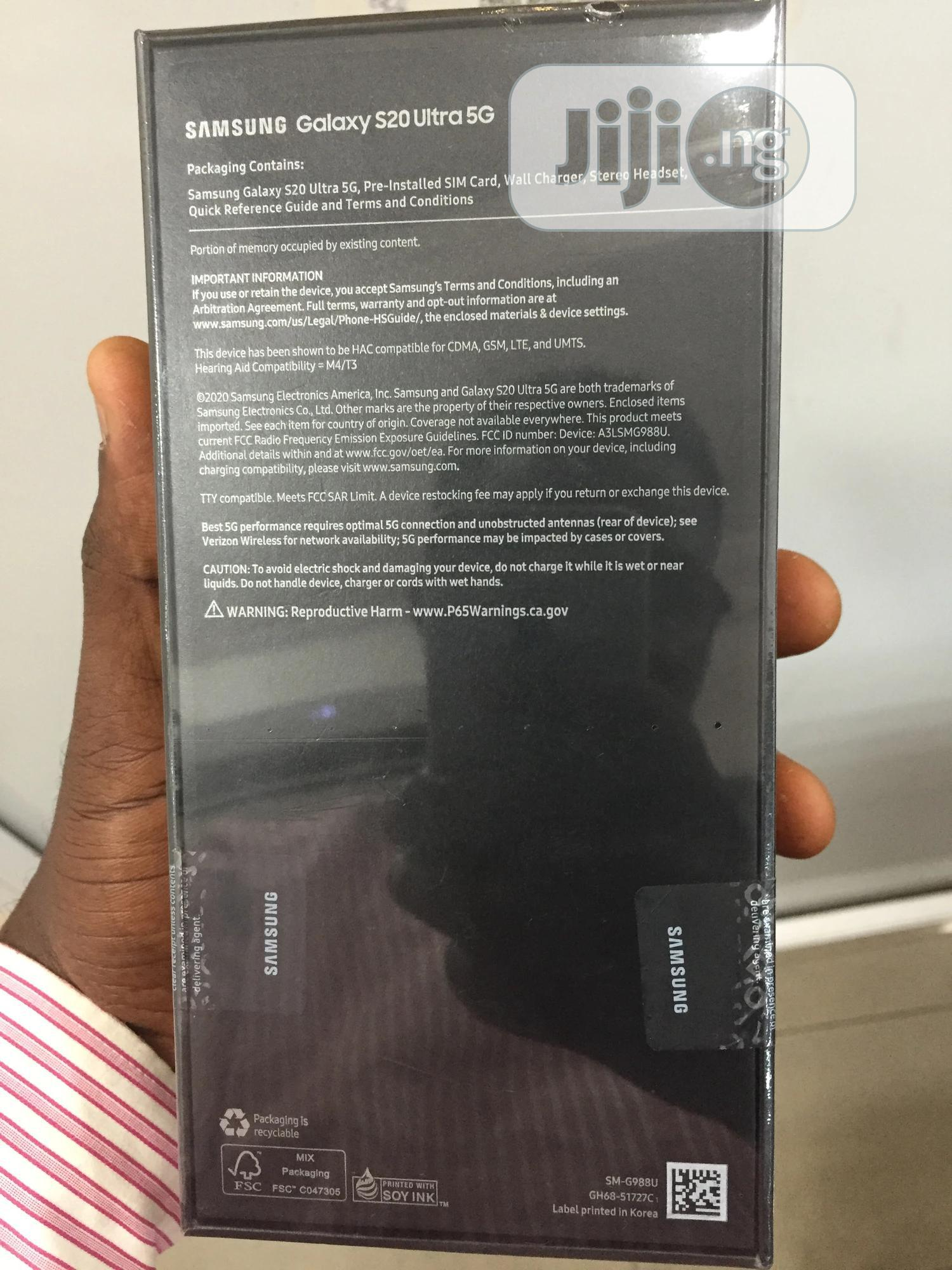 New Samsung Galaxy S20 Ultra 128 GB Black | Mobile Phones for sale in Ikeja, Lagos State, Nigeria