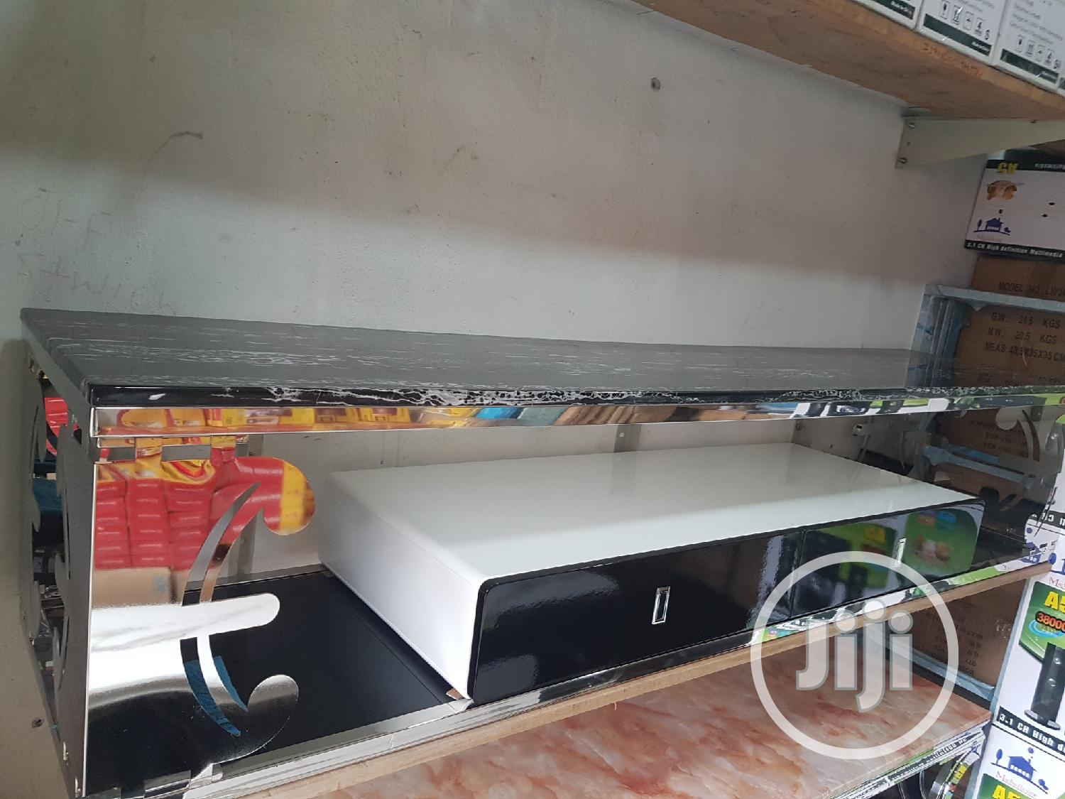 Stainless Steel Marble Tv Stand.
