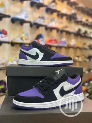Air Jordan 1 Low Court Purple Sneakers Original   Shoes for sale in Lagos State, Surulere