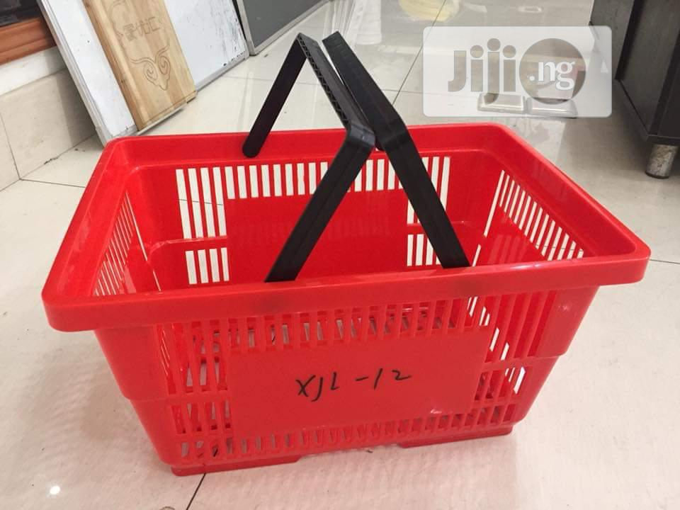 Red Colour Shopping Baskets