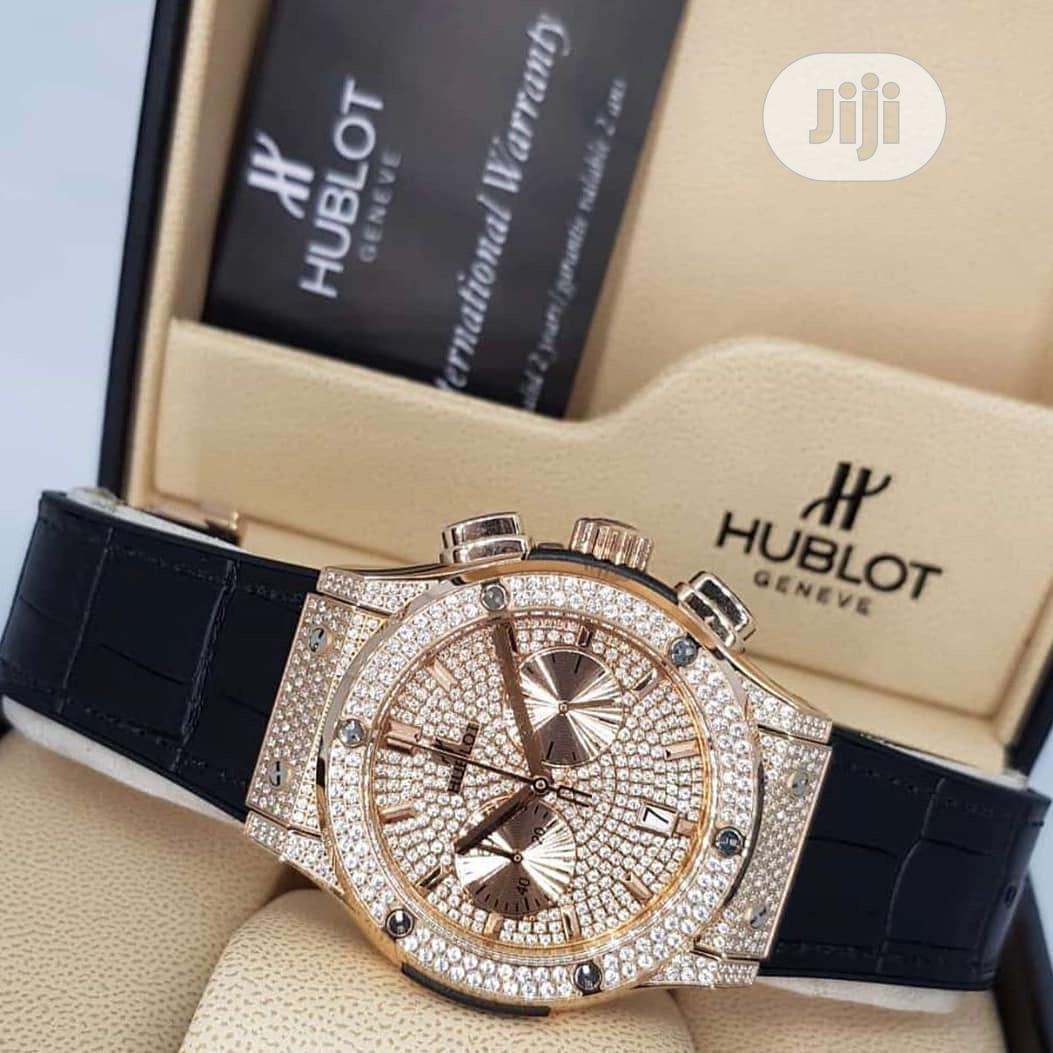 Original Hublot Leather Wristwatches