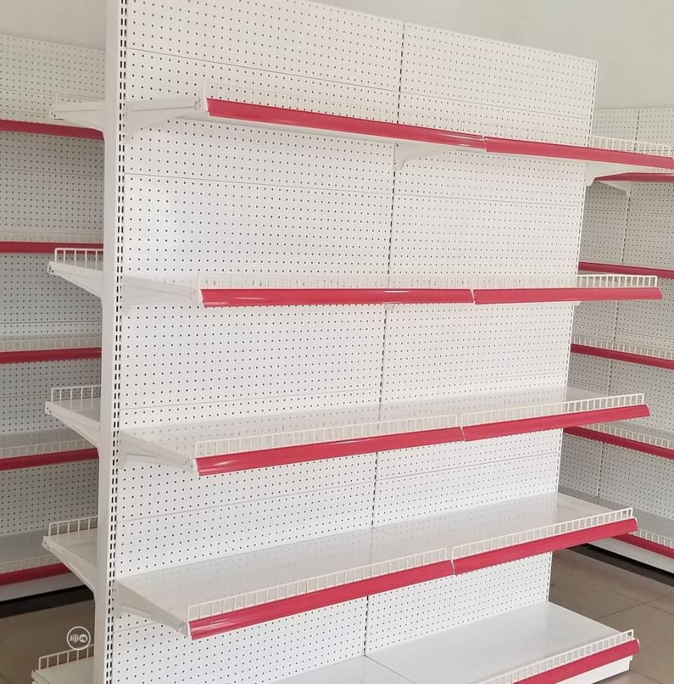 Quality Red Supermarket Shelves