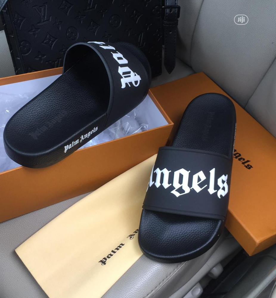 Palm Angles Black Slippers