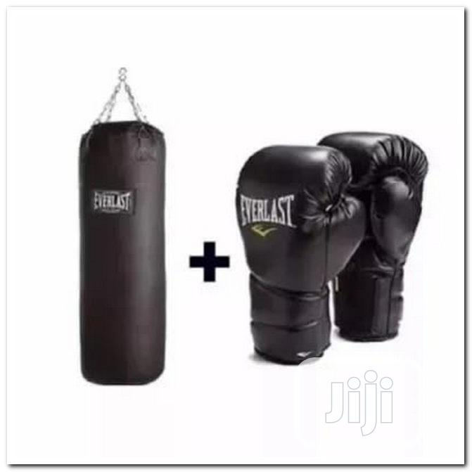 Punching Bag With Glove