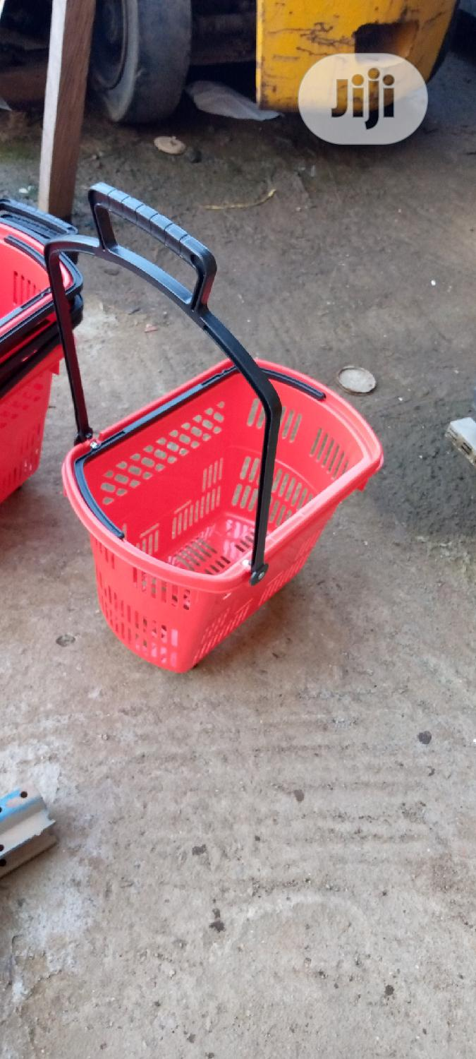 Trolley Shopping Basket Red Colour | Store Equipment for sale in Ikorodu, Lagos State, Nigeria