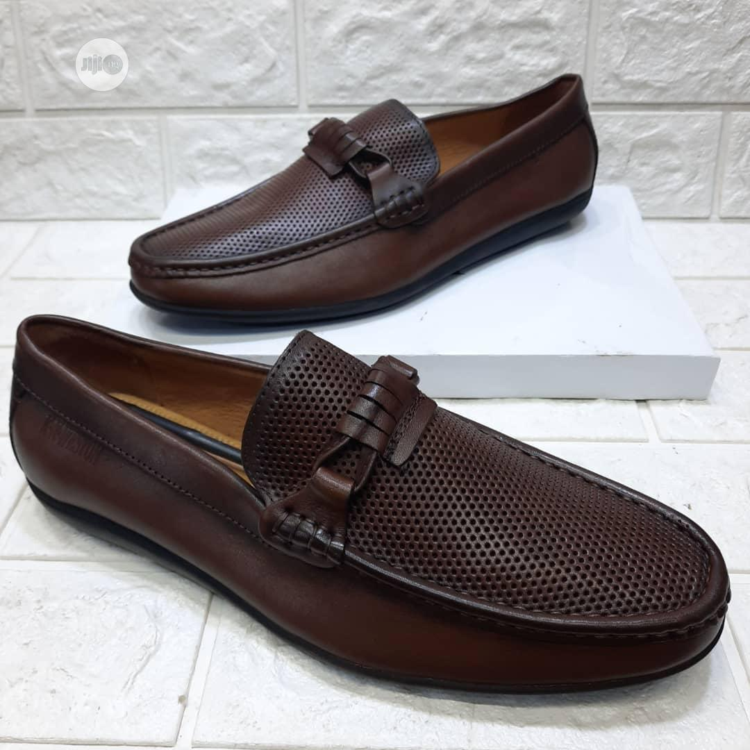 Brown Leather Men's Flat Shoes | Shoes for sale in Lagos Island, Lagos State, Nigeria
