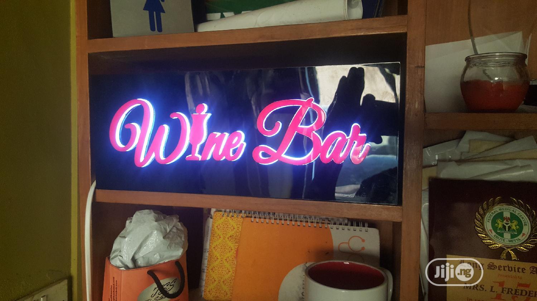 Archive: Wine Bar Signage