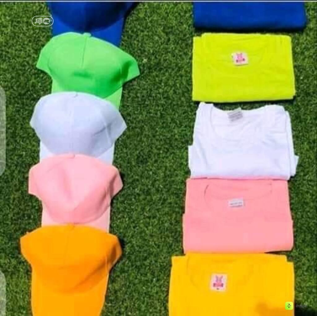 Quality Plain Tees With Cap