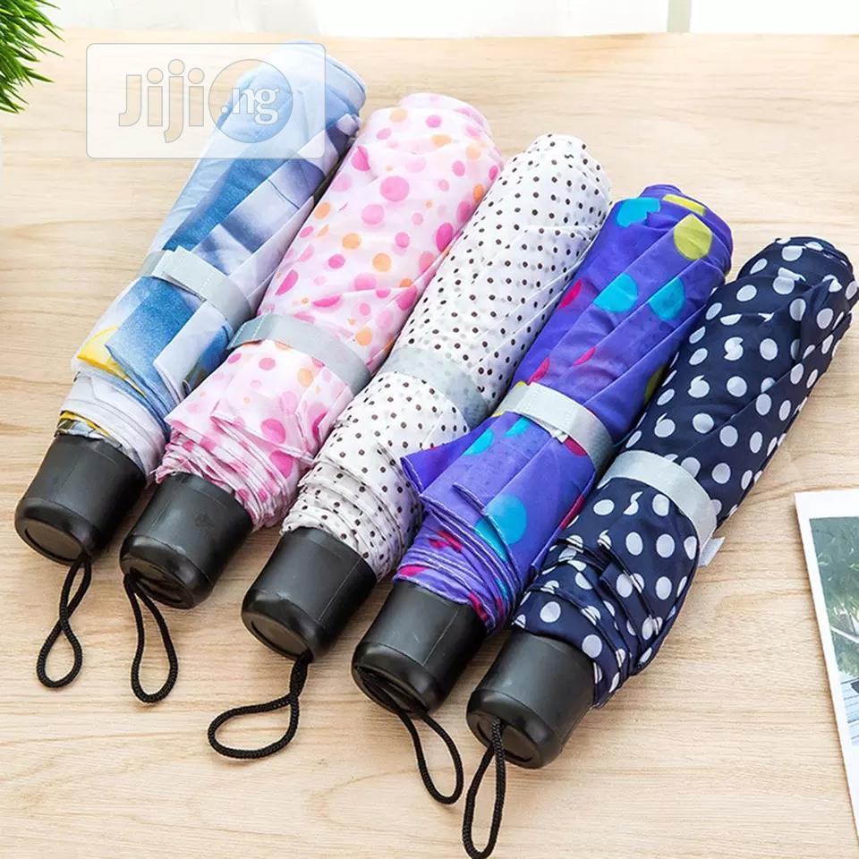 Couple Color Short Handle Umbrella 30 Fold Umbrella Portable