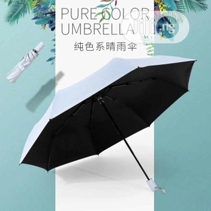 Couple Color Short Handle Umbrella 30 Fold Umbrella Portable   Clothing Accessories for sale in Lagos Island (Eko), Lagos State, Nigeria