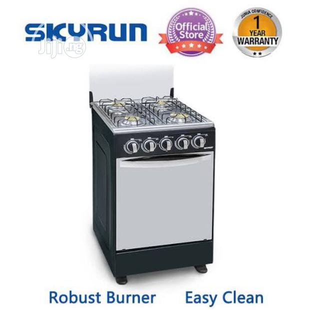 Skyrun 4 Burners(4+0)Gas Cooker - Black | Kitchen Appliances for sale in Surulere, Lagos State, Nigeria