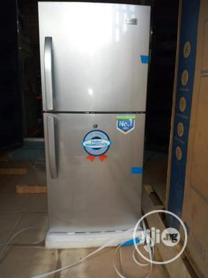 Brand New Haire Thermocool Double Door Fridge 250L Silver | Kitchen Appliances for sale in Lagos State, Ojo