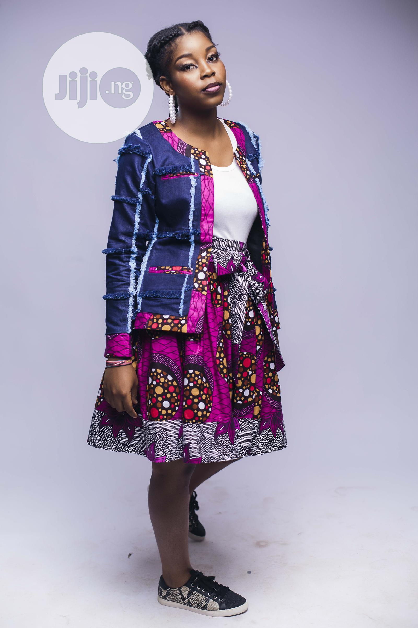 African Print, Ankara Skater Skirt, Short Skirt, Pink | Clothing for sale in Yaba, Lagos State, Nigeria