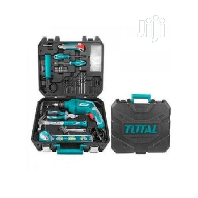 Tools Box KIT Set With Electric Drill Machine Total
