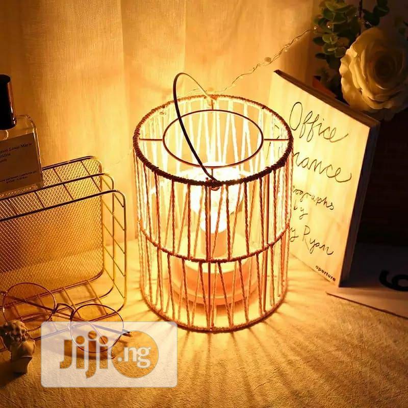 Plastic Metal Bird Cage Night Lamp