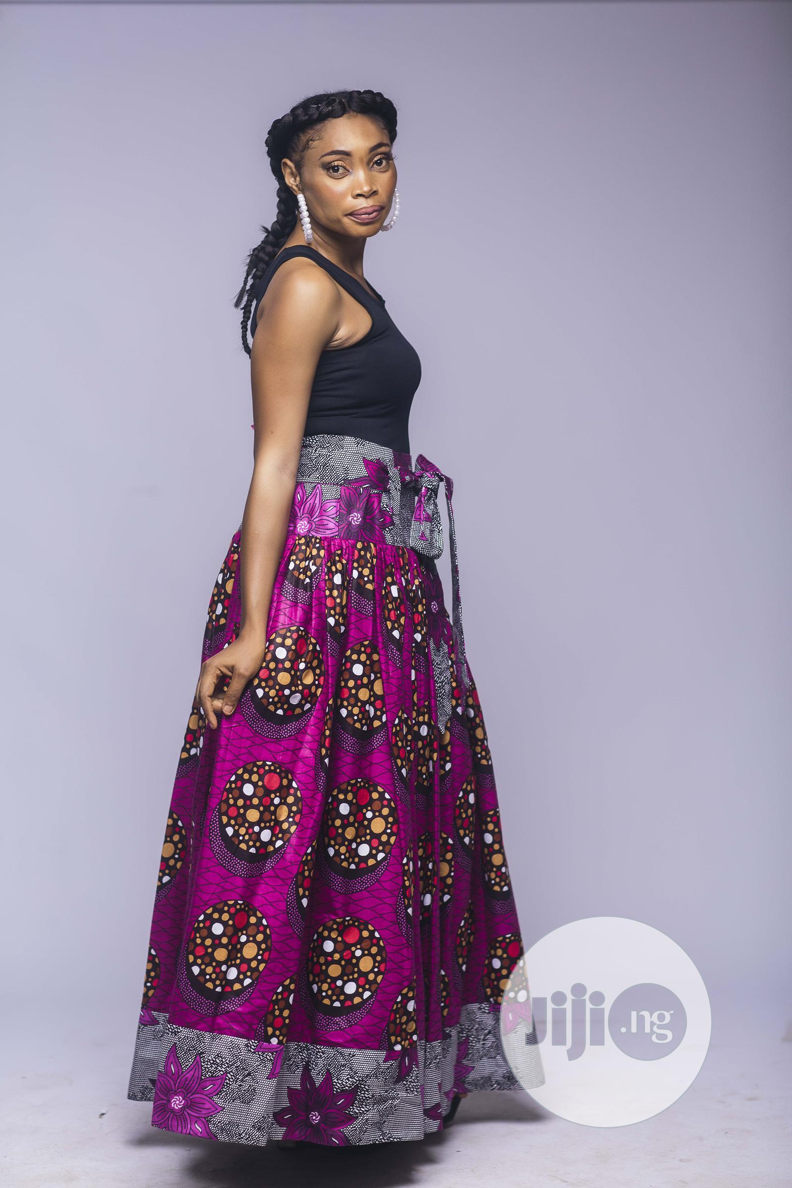 African Print, Ankara Maxi Skirt, Long Skirts, African Cloth